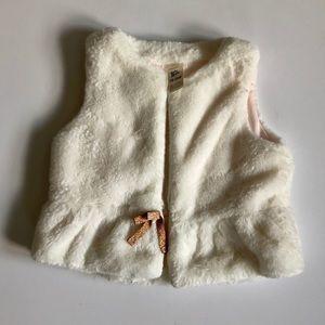 Girls' 18-24M OshKosh Cream Fur Vest